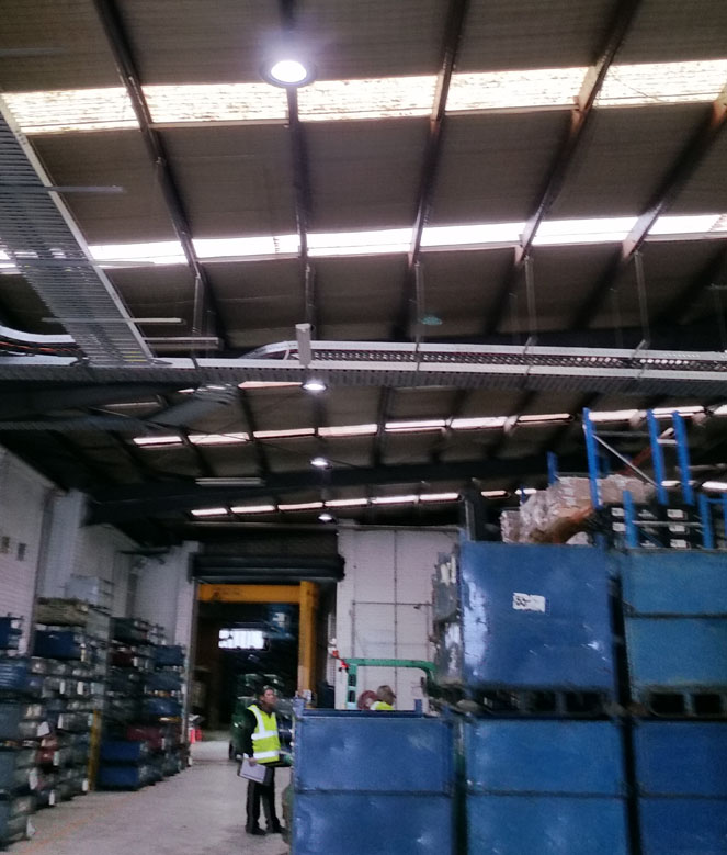 LED High Bays in Metalsa